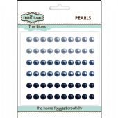 The Hobby House Self Adhesive Pearls - 5mm The Blues - HH505